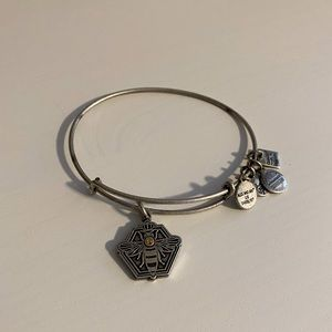 Silver Alex and Ani Queen Bee Bracelet